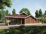 Архитектурный проект двухэтажной усадьбы с деревянным фасадом