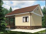 Проект для строительства бани с крытым крыльцом