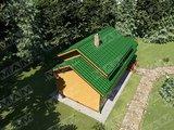 Проект удобного гостевого дома с баней и жилой комнатой на 2 этаже