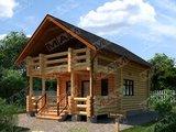 Архитектурный проект гостевого дома с баней из бруса
