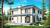 Проект двухэтажного загородного дома со вторым светом