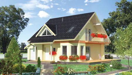 Проект небольшого дома с двухскатной кровлей