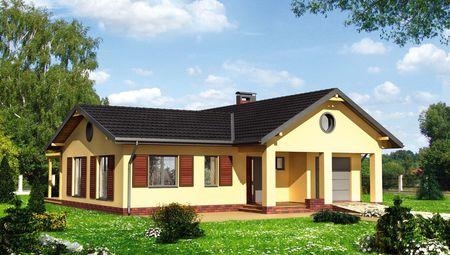3551Удобный одноэтажный особняк с тремя жилыми комнатами