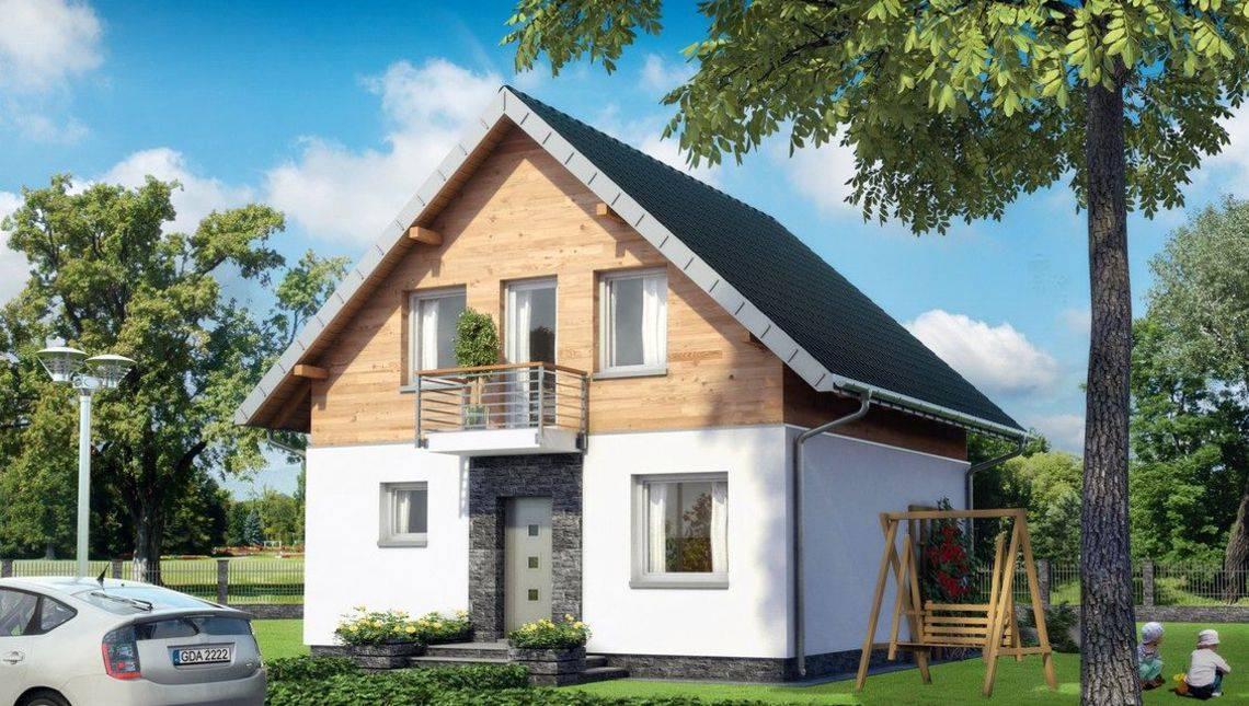 Симпатичный небольшой домик с мансардным этажом и светлыми комнатами