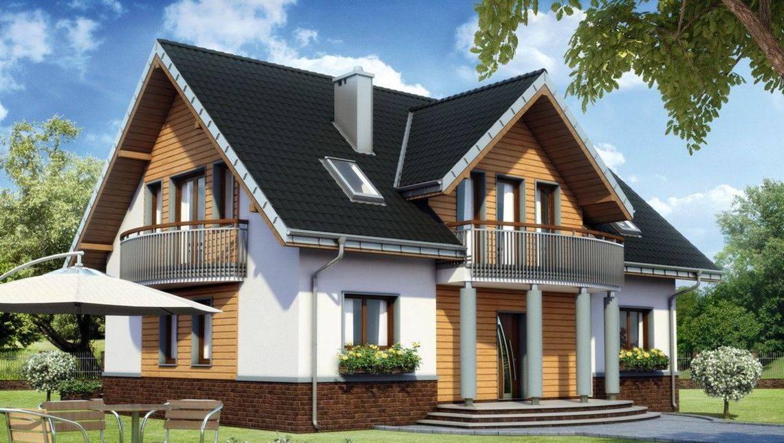 Архитектурный проект загородного коттеджа с большими комнатами
