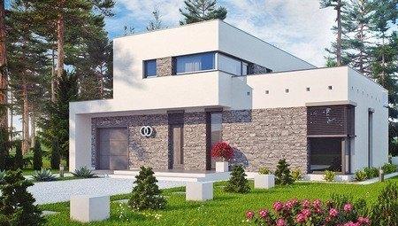 Особняк с большой террасой в стиле модерн