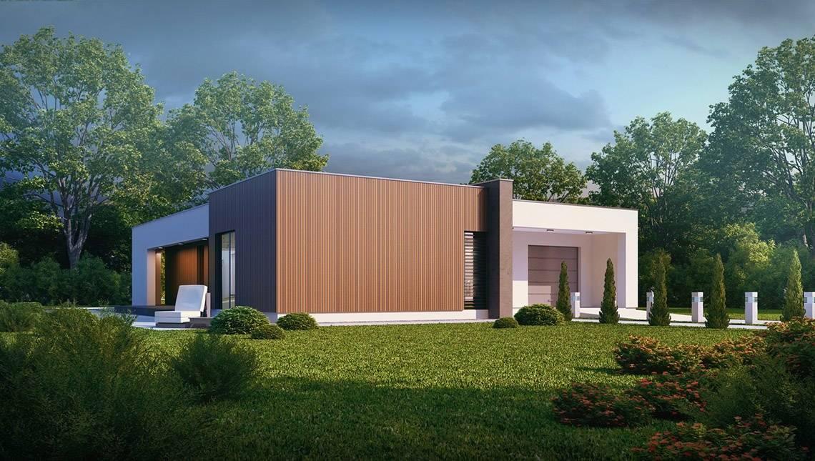 Проект одноэтажного дома в стиле кубизма
