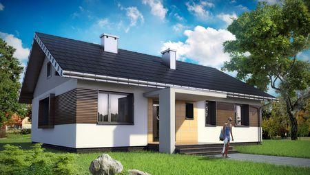Одноэтажный дом прямоугольной формы 13 на 10