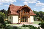 Архитектурный проект маленького загородного коттеджа с четырьмя спальнями