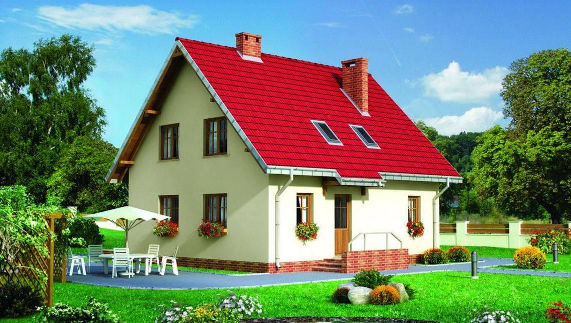 Проект оригинального мансардного дома 140 m²