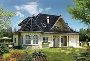 Проект загородного коттеджа с пятью спальнями
