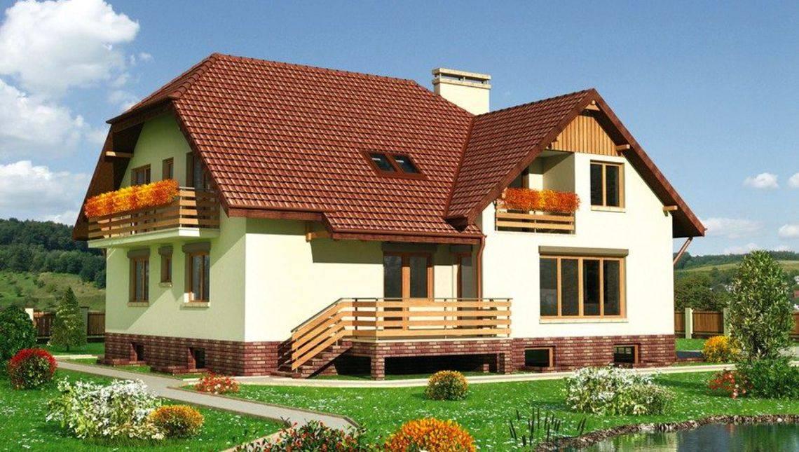 Архитектурный проект большой усадьбы с девятью спальнями