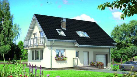 Небольшой загородный дом с пятью комнатами и гаражом