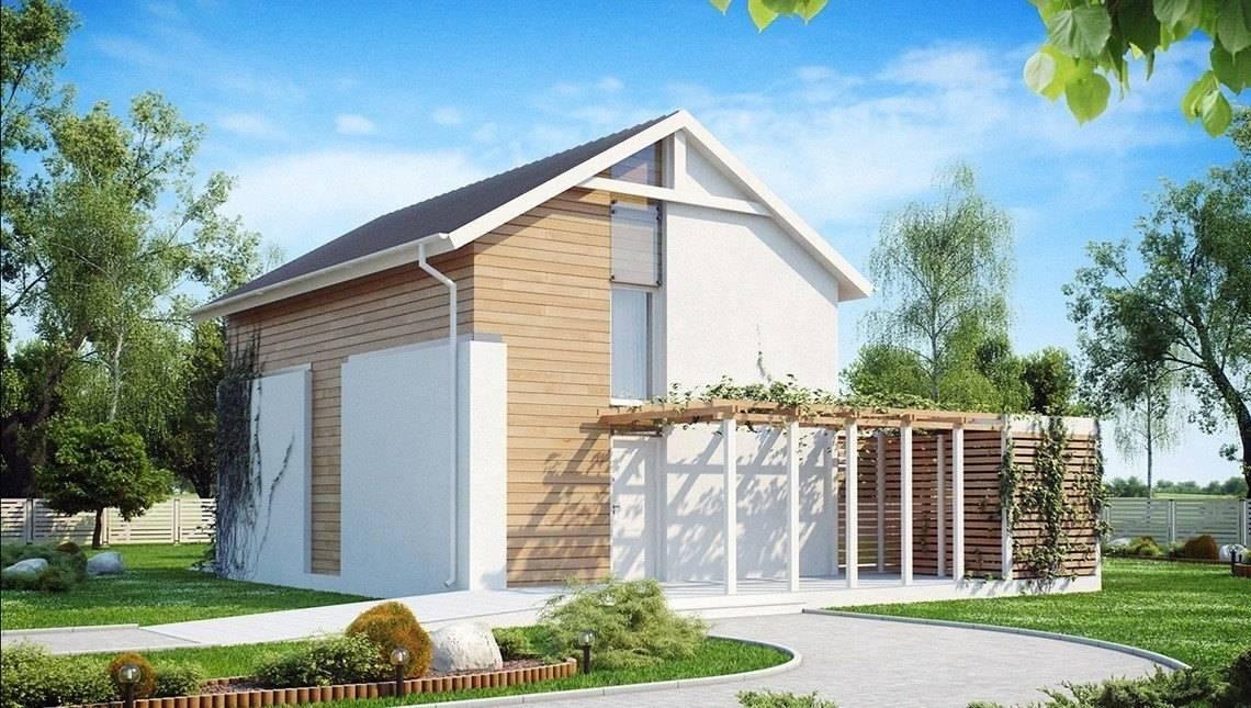Проект двухэтажного экономичного коттеджа