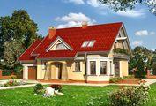 Оригинальный проект особняка с мансардой площадью до 200 m²