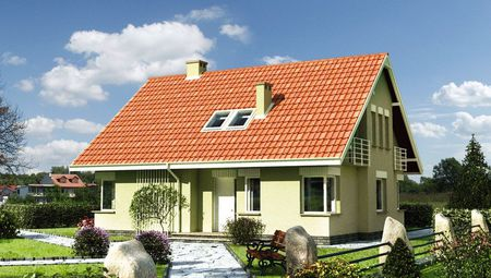 Проект коттеджа с мансардой в традиционном стиле площадью 170 m²
