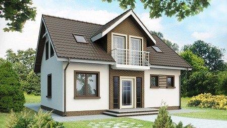 Проект простого дома со строгим экстерьером