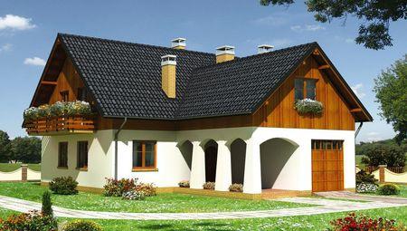План красивого жилого дома необычной планировки