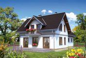 Проект строительства мансардного особнячка с многоскатной крышей 220 m²