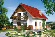 План дома в европейском стиле жилой площадью 110 кв. м