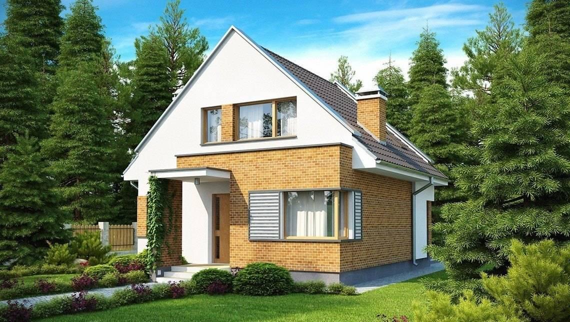 Компактный дом с оригинальным фасадом