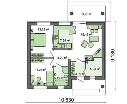 Экономный проект малогабаритного дома