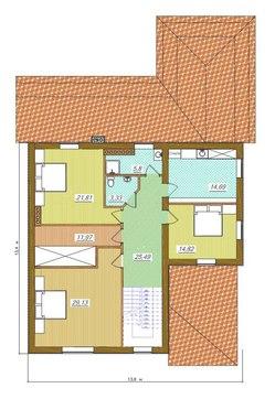 Проект двухэтажного особняка в строгом стиле для наклонного участка