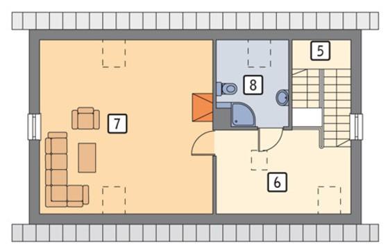 Гараж с просторным жилым помещением в мансарде