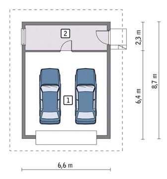 Проект аккуратного гаража на две машины