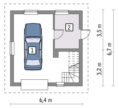 Аккуратный гараж с просторной мансардой