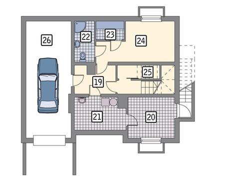 Проект презентабельной усадьбы с гаражом на 1 авто