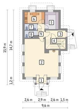 Проект магазина с цокольным этажом и жилыми апартаментами