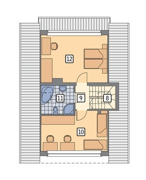 Проект интересного двухэтажного дома на 4 спальни
