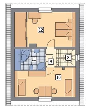 Проект компактного двухэтажного жилого дома
