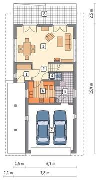 Проект живописного жилого дома на 4 спальни