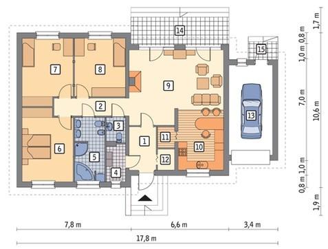 Одноэтажное привлекательное жилое строение