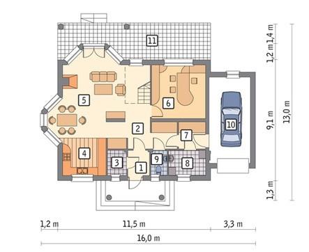 Проект двухэтажного изысканного дома с колоннами