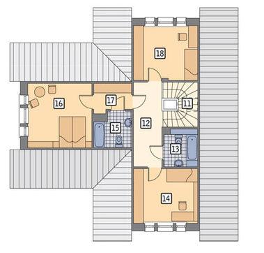 Двухэтажный миловидный дом
