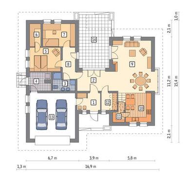 Проект привлекательного двухэтажного дома