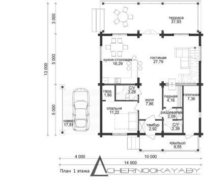 Прекрасного вида загородный дом на четыре спальни