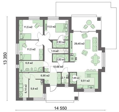 Комфортабельный жилой дом с чердаком