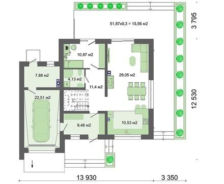 Проект роскошного особняка на четыре спальни