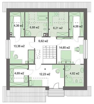 Стильный особняк с удобными личными комнатами