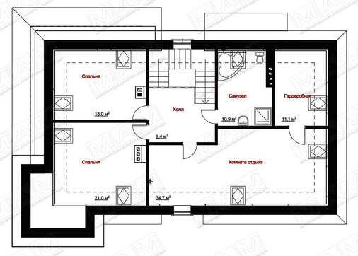 Коттедж с мансардой и цокольным этажом