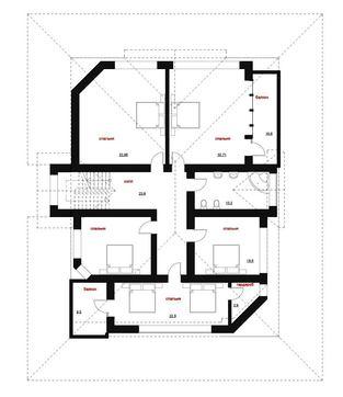 Проект роскошного особняка в американском стиле с гаражом в цокольном этаже