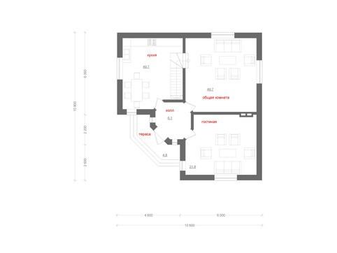 Проект дома с оригинальным фасадом