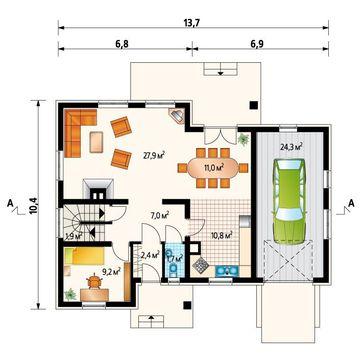 Восхитительный особняк со спальнями на двух этажах