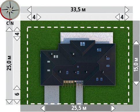 Проект комфортабельного одноэтажного особняка с пятью спальнями