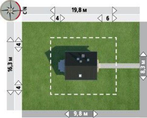 Стильная загородная усадьба небольшого размера с четырьмя комнатами