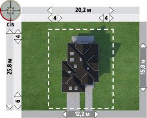 Проект оригинальной усадьбы с площадью более 200 m²